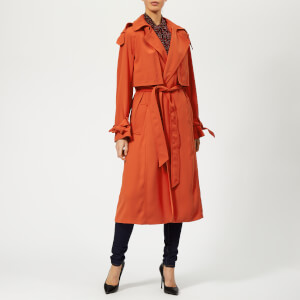 MICHAEL MICHAEL KORS Women's Drapey Trench Coat - Bright Terra Cotta