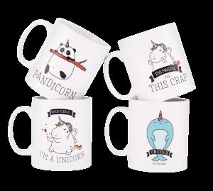 Unicorn Mugs - 4 Pack