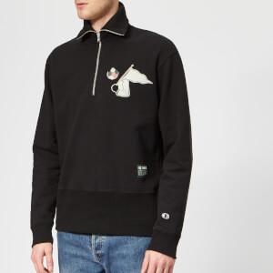 Champion X WOOD WOOD Men's Tommy Half Zip Sweatshirt - Black