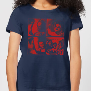 Chucky Family Photo Women's T-Shirt - Navy