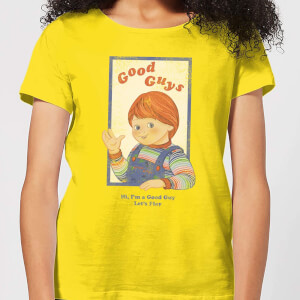 Camiseta Chucky Good Guys Retro - Mujer - Amarillo
