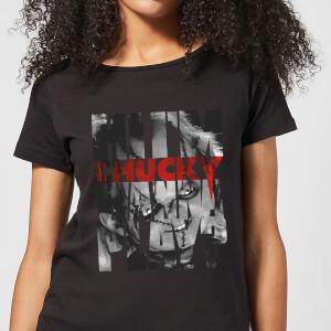 T-Shirt Femme Typographic Chucky - Noir