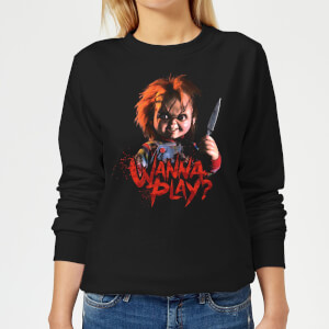 Chucky Wanna Play? Dames trui - Zwart