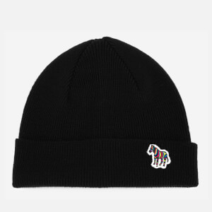 Paul Smith Men's Lambswool Beanie Hat - Black