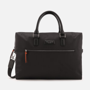 Ted Baker Men's Dancer Satin Nylon Document Bag - Black