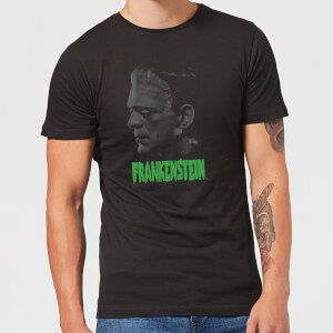 Universal Monsters Frankenstein Greyscale Men's T-Shirt - Black