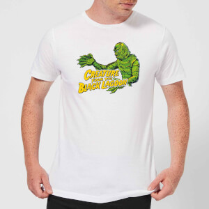 Universal Monsters Creature From The Black Lagoon Crest Men's T-Shirt - White