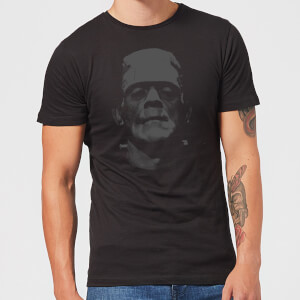 Universal Monsters Frankenstein Black And White T-shirt - Zwart