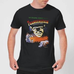 T-Shirt Homme Frankenstein Affiche Rétro - Universal Monsters - Noir