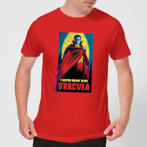 T-Shirt Universal Monsters Dracula Retro - Rosso - Uomo