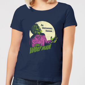 T-Shirt Femme The Wolfman Rétro - Universal Monsters - Bleu Marine