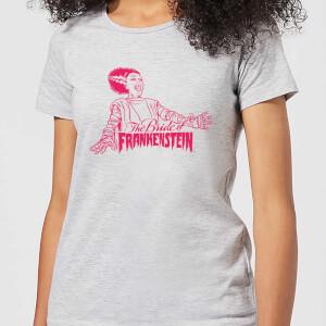 T-Shirt Femme La Fiancée de Frankenstein - Universal Monsters - Gris