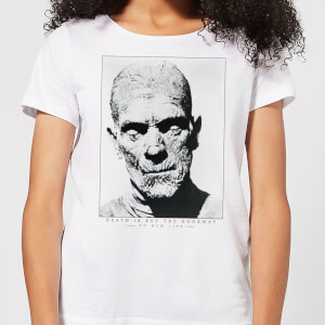 T-Shirt Femme La Momie Portrait - Universal Monsters - Blanc