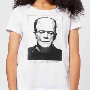 Universal Monsters Frankenstein Portrait Women's T-Shirt - White