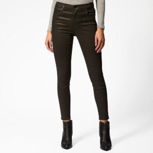 J Brand Women's Alana High Rise Skinny Coated Jeans - Coated Ivy Vine