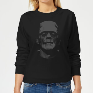 Universal Monsters Frankenstein Black and White Women's Sweatshirt - Black