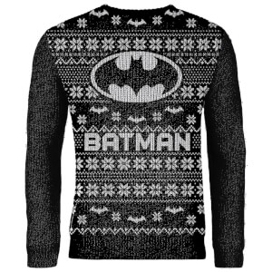 Zavvi Exclusive Batman Knitted Christmas Sweater - Black