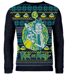 Jersey Navideño Rick y Morty - Negro - Exclusivo My Geek Box