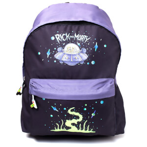 Rick and Morty Placement Printed Backpack - Black