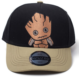 Marvel Guardians of the Galaxy Kawaii Groot Curved Bill Cap - Black