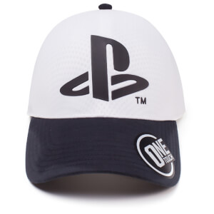 PlayStation Logo Seamless Curved Bill Cap - White