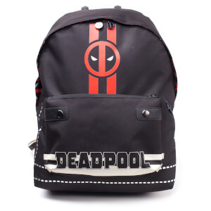 Marvel Deadpool Men's Icon Placement Printed Solid Backpack - Black