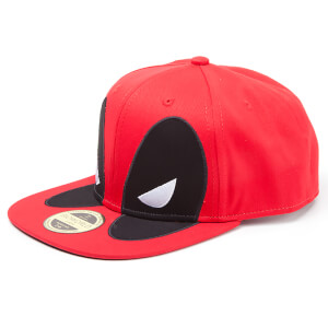 Marvel Deadpool Men's Big Face Snapback - Red
