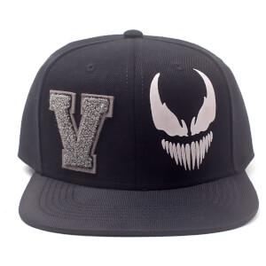pretty nice 8006a 980a5 Marvel Venom Men s Varsity Snapback Cap - Black