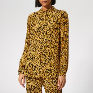 Ganni Women's Goldstone Crepe Shirt - Black