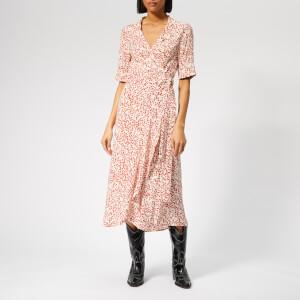 5655f3c31997 Ganni Women s Goldstone Crepe Wrap Dress - Black - Free UK Delivery ...