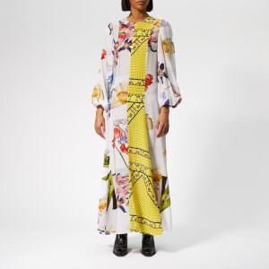 Ganni Women's Hemlock Silk Dress - Block Colour