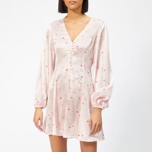 Ganni Women's Blakely Silk Mini Dress - Mary's Rose