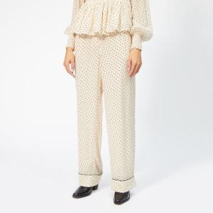 Ganni Women's Elm Georgette Trousers - Tapioca