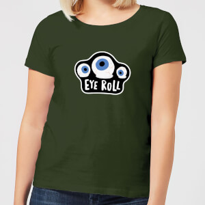Halloween Eye Roll Women's T-Shirt - Forest Green