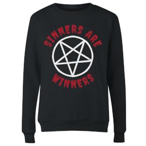 Sinners Are Winners Women's Sweatshirt - Black