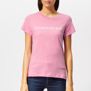 Calvin Klein Jeans Women's Institutional Logo Slim Fit T-Shirt - Begonia Pink