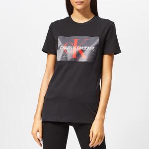 Calvin Klein Jeans Women's Monogram Box Logo T-Shirt - Black