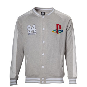 PlayStation Sony Men's Baseball Jacket - Grey