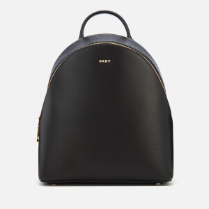 DKNY Women's Bryant Sutton Medium Backpack - Black/Gold