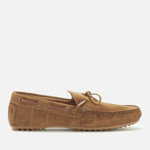 Barbour Men's Eldon Suede Driver Shoes - Light Brown