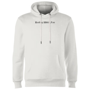Resting Witch Face Hoodie - White