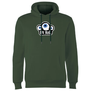 Eye Roll Hoodie - Forest Green