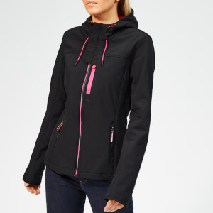 Superdry Women's Hooded SD Windtrekker - Black/Hot Pink