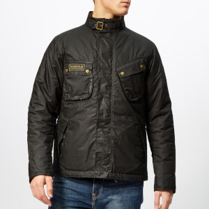 Barbour International Men's Lever Wax Jacket - Sage