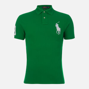 b781ae02e Polo Ralph Lauren Men s Slim Fit Basic Mesh Polo Shirt - Green White