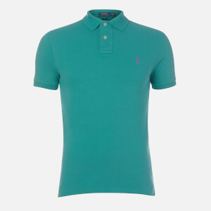 Polo Ralph Lauren Men's Slim Fit Weathered Mesh Polo Shirt - Green