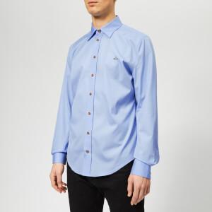 Vivienne Westwood Men's Extra Slim Firm Poplin Shirt - Light Blue