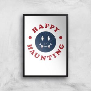 Happy Haunting Fang Art Print