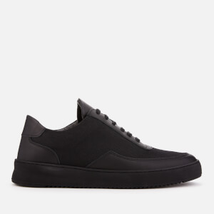 Filling Pieces Men's Mesh Low Mondo Ripple Trainers - All Black