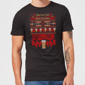 T-Shirt de Noël Homme You've Got Red On You Shaun Of The Dead - Noir